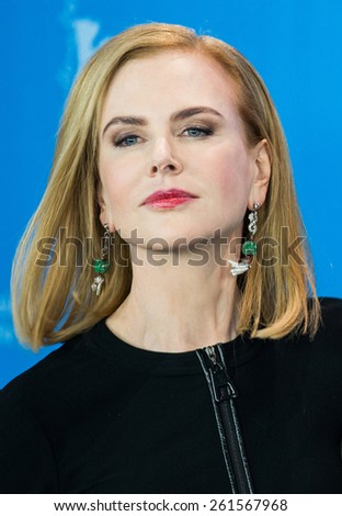 BERLIN, GERMANY - FEBRUARY 06: Actress Nicole Kidman, photocall 'Queen of the Desert'. 65th Film Festival at Hyatt Hotel on February 6, 2015 in Berlin, Germany. - stock photo