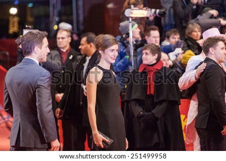 BERLIN, GERMANY - FEBRUARY 05, 2015: Anja Knauer attends the 'Nobody Wants the Night' (Nadie quiere la noche) Opening Night premiere on 65th Berlinale International Film Festival at Berlinale Palace