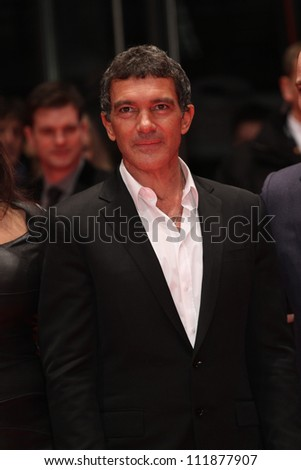 BERLIN, GERMANY - FEBRUARY 15: Antonio Banderas attends the 'Haywire' Premiere at the 62nd Berlin International Film Festival at the Berlinale Palast on February 15, 2012 in Berlin, Germany.