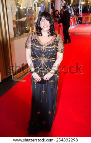 BERLIN, GERMANY - FEBRUARY 11: British author  E. L. James, 'Fifty Shades of Grey' premiere. 65th Berlinale International Film Festival at Zoo Palast on February 11, 2015 in Berlin, Germany. - stock photo