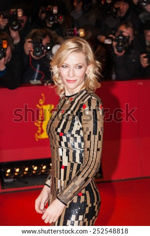 BERLIN, GERMANY - FEBRUARY 13: Cate Blanchett attends the 'Cinderella' premiere during the 65th Berlinale International Film Festival at Berlinale Palace on February 13, 2015 in Berlin, Germany.