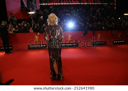BERLIN, GERMANY - FEBRUARY 13: Cate Blanchett attends the 'Cinderella' premiere during the 65th Berlinale Film Festival at Berlinale Palace on February 13, 2015 in Berlin, Germany. - stock photo