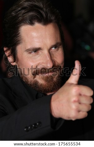 BERLIN, GERMANY - FEBRUARY 07: Christian Bale  attends the 'American Hustle' premiere during 64th Berlinale  Festival at the Friedrichstadtpalast on February 7, 2014 in Berlin, Germany - stock photo