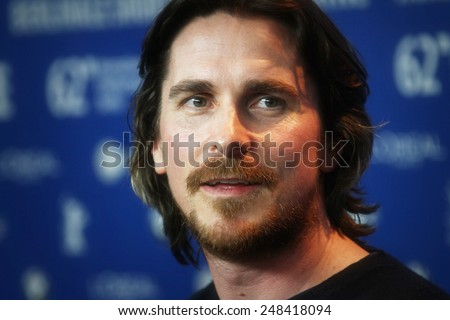 BERLIN, GERMANY - FEBRUARY 13: Christian Bale attends 'The Flowers of War' Press Conference during of the 62nd Berlin Film Festival at the Grand Hyatt on February 13, 2012 in Berlin, Germany - stock photo