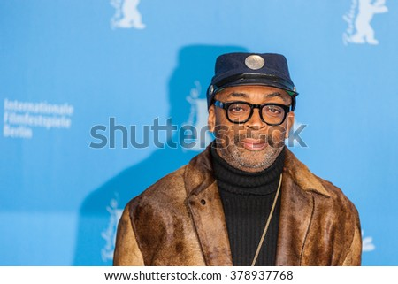 Berlin, Germany - February 16, 2016  - Director Spike Lee attends the 'Chi-Raq' photo call during the 66th Berlinale International Film Festival - stock photo