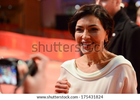 "BERLIN - GERMANY - FEBRUARY 7: Dolores Heredia at the 64th Annual Berlinale International Film Festival ""Two Men in Town"" premiere at Berlinale Palast on February 7, 2014 in Berlin, Germany."