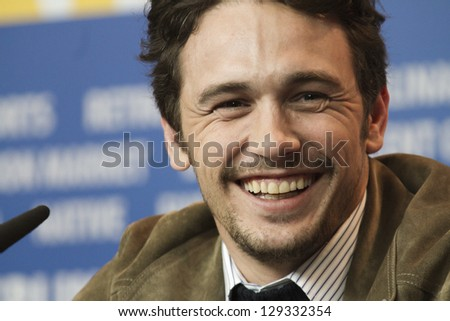 BERLIN, GERMANY - FEBRUARY 09: James Franco attends the 'Lovelace' Press Conference during the 63rd Berlinale  Film Festival at Grand Hyatt Hotel on February 9, 2013 in Berlin, Germany. - stock photo