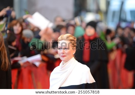 "BERLIN - GERMANY - FEBRUARY 8: Laura Linney at the 65rd Annual Berlinale International Film Festival ""Mr. Holmes"" at Berlinale Palast on February 8, 2015 in Berlin, Germany"