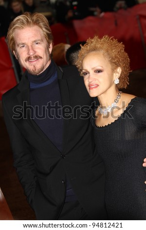 BERLIN, GERMANY - FEBRUARY 09: Matthew Modine and wife Caridad Rivera attends the 'Les Adieux De La Reine' Premiere during of the 62 Berlin  Festival at the Palast on Feb. 9, 2012 in Berlin, Germany. - stock photo