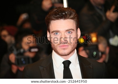 BERLIN, GERMANY - FEBRUARY 13:  Richard Madden attends the 'Cinderella' premiere during the 65th Berlinale Film Festival at Berlinale Palace on February 13, 2015 in Berlin, Germany. - stock photo