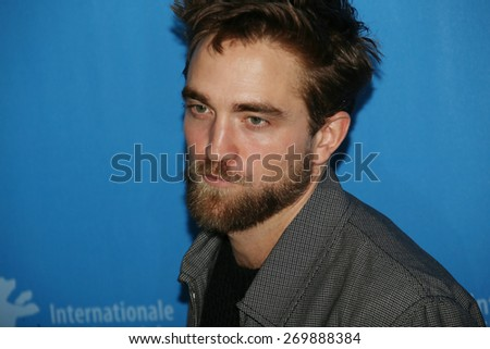 BERLIN, GERMANY - FEBRUARY 09: Robert Pattinson attends the 'Life' photocall during the 65th Berlinale Film Festival at Grand Hyatt Hotel on February 9, 2015 in Berlin, Germany. - stock photo