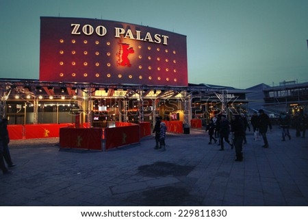 BERLIN, GERMANY - FEBRUARY 7: Zoo Palast, the main venue at the 64th Berlinale International Film Festival on February 7, 2014 in Berlin, Germany - stock photo