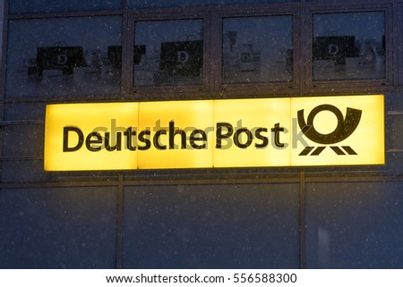 Berlin, Germany - January 11, 2017: Sign of Postbank. Deutsche Postbank AG is one of the largest retail banks in Germany. Formed from the demerger of the savings division of german Bundespost