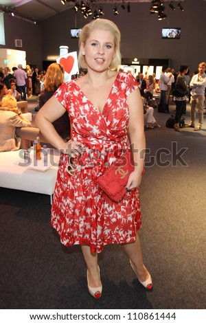 BERLIN, GERMANY - JULY 05: Maite Kelly attends the Laurel Show during the Mercedes-Benz Fashion Week Spring/Summer 2013 on July 5, 2012 in Berlin, Germany. - stock photo