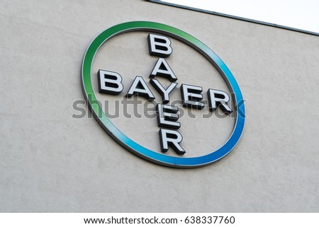 Berlin Germany May 7 2017 Bayer Stock Photo Royalty Free 638337760