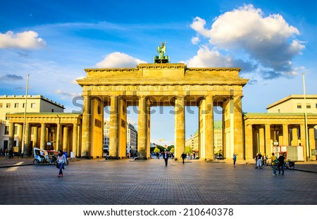 Berlin, Germany - May 4, 2014: Berlin Potsdam and its surroundings. The historic center of Europe.