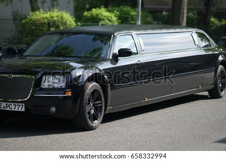 berlin germany may 12 2017 black limousine a limousine or