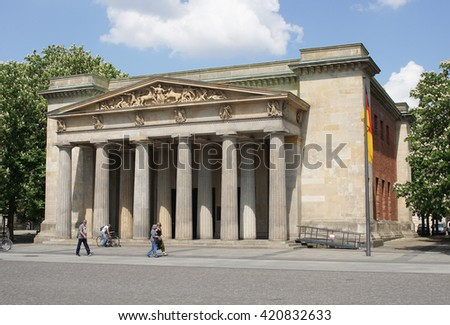 BERLIN, GERMANY - MAY 12, 2016: Old guardhouse, sights of Berlin on May 12, 2016 in Germany, Europe