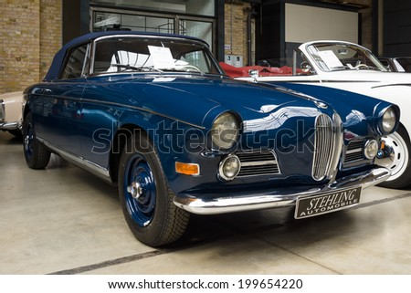 BERLIN, GERMANY - MAY 17, 2014: Oldtimer BMW 503 convertible. 27th Oldtimer Day Berlin - Brandenburg  - stock photo