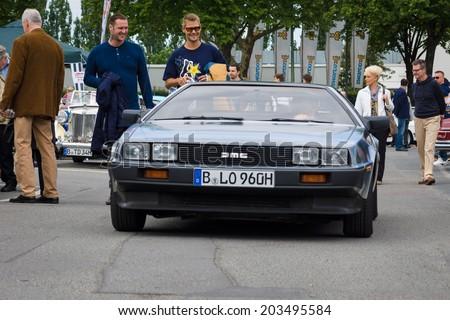 BERLIN, GERMANY - MAY 17, 2014: Sports Car DeLorean DMC-12. 27th Oldtimer Day Berlin - Brandenburg  - stock photo