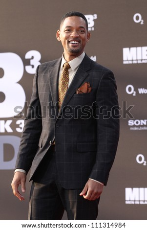 BERLIN, GERMANY - MAY 14: Will Smith attends the Men In Black 3 Premiere at the O2 World on May 14, 2012 in Berlin, Germany. - stock photo