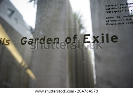 BERLIN, GERMANY - NOV 2: The exhibition, Garden of Eden, in Jewish Holocaust Museum on November 2 2013 in Berlin, Germany. Opened to public in 2001 is one of the largest jewish museums in Europe.