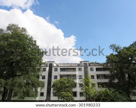 BERLIN, GERMANY - SEP 17: Berlin Modernism Housing Estates at Siemensstadt in Berlin, Germany on September 17, 2013. Berlin is the capital and largest city in Germany.