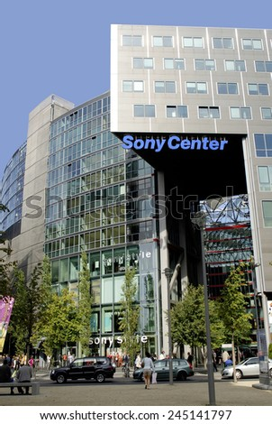 Berlin, Germany - September 22, 2007: Sony centre at the Potsdam place in Berlin.