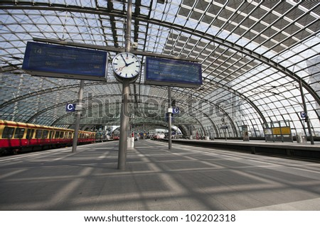 berlin haubtbahnhof - stock photo