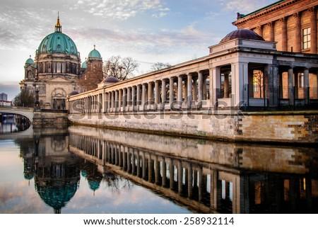 Berlin in the morning - stock photo