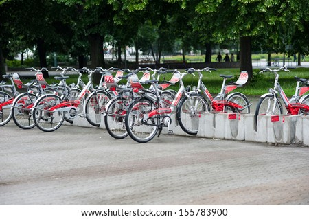bike rental city bikes rent rental stock photo 256256128. Black Bedroom Furniture Sets. Home Design Ideas