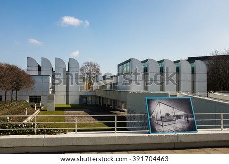 BERLIN, MARCH 16: The Bauhaus Archive (German: Bauhaus-Archiv) Museum of Design, in Berlin on March 16, 2016. It displays art pieces, items, documents and literature related to the Bauhaus School.