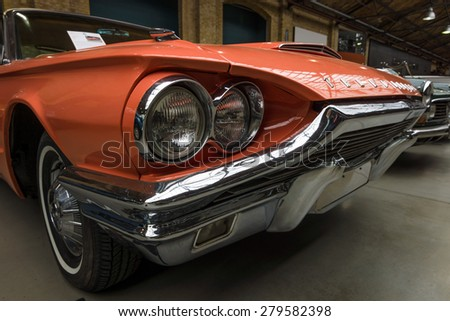 BERLIN - MAY 10, 2015: A large personal luxury car Ford Thunderbird 390 Coupe (second generation), 1964. The 28th Berlin-Brandenburg Oldtimer Day - stock photo