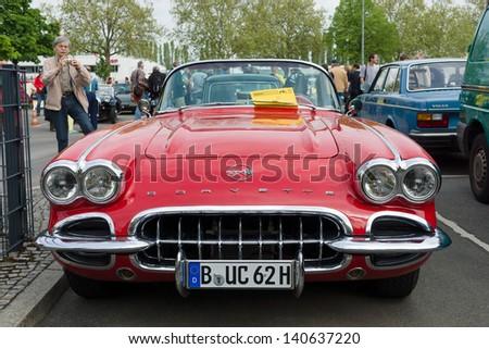 BERLIN - MAY 11: A sports car Chevrolet Corvette Convertible (1958), 26. Oldtimer-Tage Berlin-Brandenburg, May 11, 2013 Berlin, Germany - stock photo
