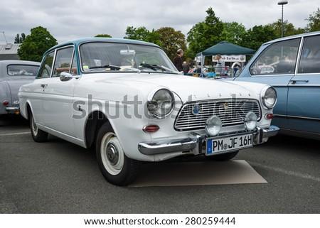 BERLIN - MAY 10, 2015: Vintage car Ford Taunus 12 M. 28th Berlin-Brandenburg Oldtimer Day - stock photo