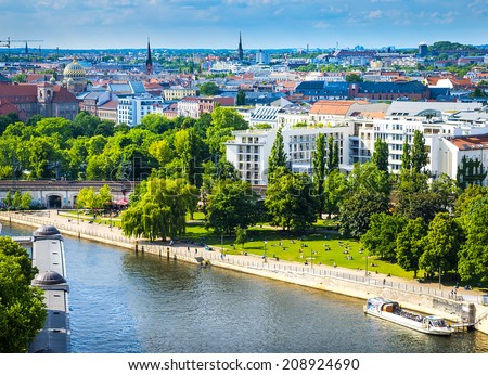 Berlin Potsdam and its surroundings. The historic center of Europe. - stock photo