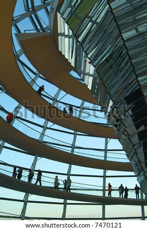 Berlin Reichstag, inside the glass dome 02