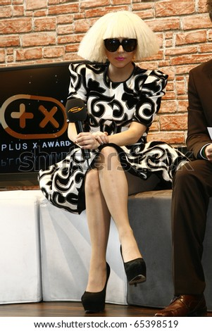 BERLIN - SEPTEMBER 07: Lady Gaga at a press confernce at the IFA 2009. September 07 2009, Berlin - stock photo