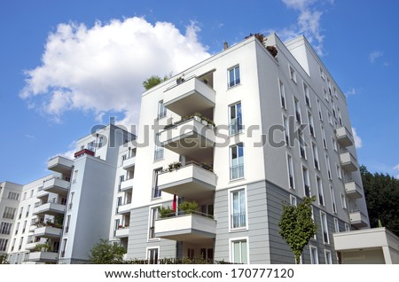 Berlin town houses - stock photo