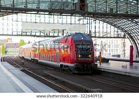 Berlin train main station (Hauptbahnhof) - stock photo