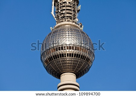 Berlin TV Tower - stock photo