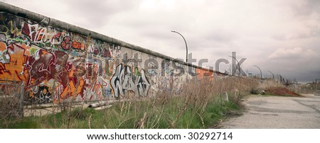 berlin wall remnant - stock photo