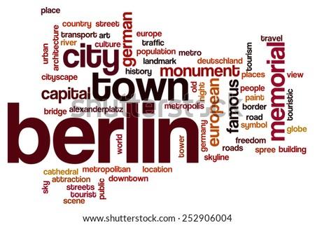Berlin word cloud concept - stock photo