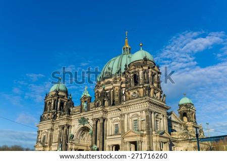 Berliner Dom or Berlin Dome on sunny day - stock photo