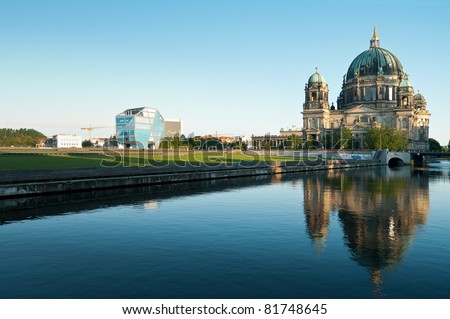 Berliner Dom und Humboldt-Box - stock photo