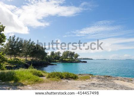 Bermuda Coast Rock Formations - stock photo