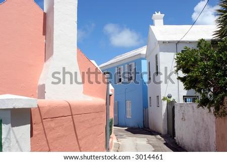 Bermuda Neighborhood - stock photo