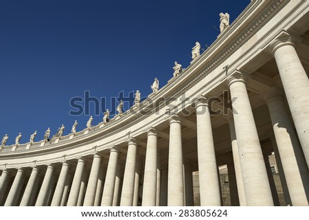Bernini colonnade in St. Peter's Square