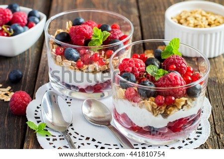 Berries and Muesli for Breakfast