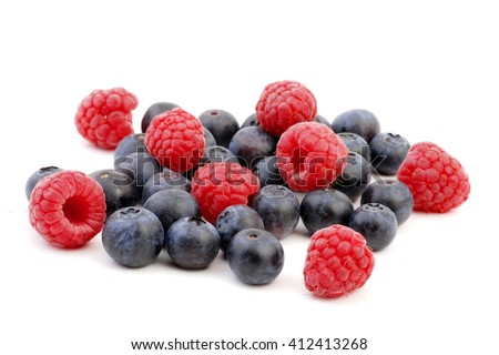 Berries. Berries on white. Fresh ripe berry on a white background. Sweet berries,  Berries isolated on white. Berries fruit. Healthy berries.  - stock photo